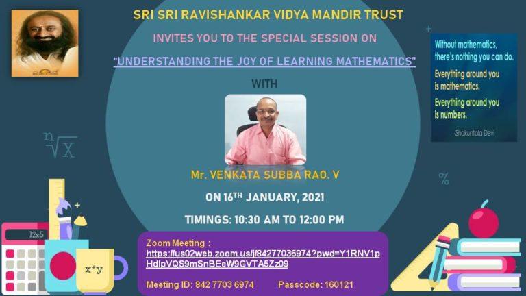 Sri Sri Ravishankar Vidyamandir-16-01-2021